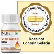 INLIFE Vegetarian DHA Algal Oil Supplement 400 mg Per Serving - 60 Vegetarian Capsules