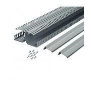 Panduct PanelMax Ducto para Cableado de Riel DIN, 3'' de Alto, PVC, Gris Claro