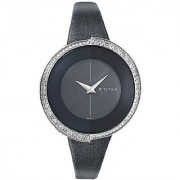 Titan Purple Analog Black Dial Womens Watch - 9943SL01