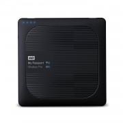 Western Digital MyPassport Wireless Pro HDD 2TB USB 3.0 - безжичен хард диск с USB 3.0 за камери и дронове (черен)