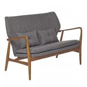 Canapea cu manere din lemn Peggy gri Pols Potten
