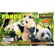 Puzzled Panda 3D Natural Wood Puzzle