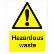 Unbranded Warning Sign Hazardous Waste Plastic 40 x 30 cm