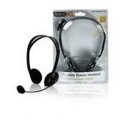 BasicXL sztereó mikrofonos headset, fekete, 2,0m