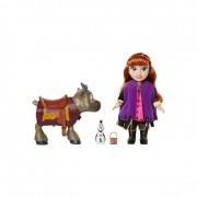 Papusa Anna Frozen 2, figurine Sven/Olaf incluse