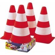 Bója közlekedési szettekhez gyermekeknek, 4 db-os készlet , neon színű fehér sávokkal