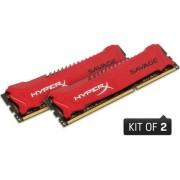 Memorii Kingston HyperX Savage DDR3, 2x8GB, 2400 MHz, CL 11