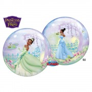 "Balon Bubble 22""/56cm Qualatex, Printesa si Broscoiul, 24404"