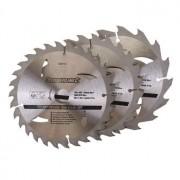 TCT cirkelzaagblad, 16, 24, 30 tanden, 3 stuks, 150 x 20 - 16 en 12,75 mm ringen