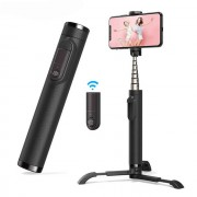 M11 All in One Integrated Retractable Selfie Stick with Detachable Flexible Tripod Removable Remote Control