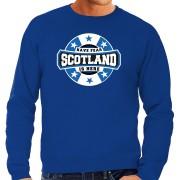Bellatio Decorations Have fear Scotland / Schotland is here supporter trui / kleding met sterren embleem blauw voor heren L - Feesttruien