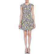 【50%OFF】DITTICO フラワー キャップスリーブ ドレス ミッドナイトブルー 42 ファッション > レディースウエア~~ワンピース