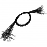 EH Línea De Pesca Contra La Mordedura De Cable Líder De Alambre De Acero (negro)