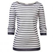 Gran Sasso Modern-Maritim-Pullover, 48 - Marine/Weiss/Gold