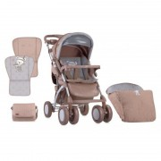 Carucior Set Toledo cos auto inclus maner reversibil Beige Indian Bear