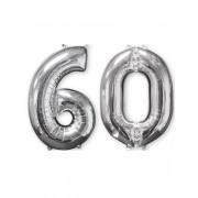 Vegaoo.se 60-år - 2 silverfärgade ballonger i aluminium