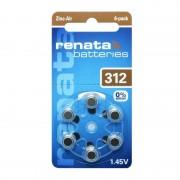 Renata 60 Batterie 312 - Pr41 Per Apparecchi Acustici