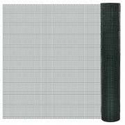 vidaXL Square Wire Netting 1x25m PVC-coated and Galvanised Mesh Size 19x19mm