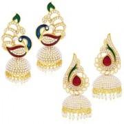 Penny Jewels Alloy Party Wear Wedding Latest Designer Fancy Combo Jhumki Earring Set For Women Girls