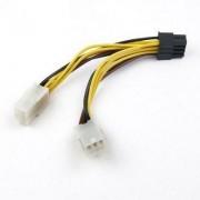 Voedingskabel 2x 6pins PCI-E naar 1x 8pins PCI-E