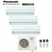 Panasonic CLIMATIZZATORE PANASONIC TRIAL SPLIT INVERTER ETHEREA WHITE 7+7+9 con CU-3E18PBE