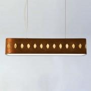 Large brown fabric hanging light Lavina, 160 cm
