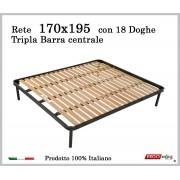 ErgoRelax Rete per materasso a 18 doghe in faggio Con Tripla Barra Centrale 170x195 cm. 100% Made in Italy