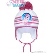 NEW BABY Zimní dětská čepička New Baby Lisa tmavě růžová