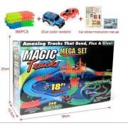 Pista luminoasa Magic Tracks 360 piese magic tracks - pista de curse iluminata