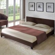 """Corium® Moderná manželská posteľ """"Barcelona"""" HTB-1056 - tmavo hnedá - 180 x 200 cm"""