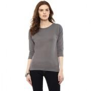 Hypernation Solid Women Round Neck T-shirt