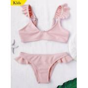 zaful Bikini ¨¤ col rond et bas en tricot