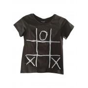 Tricou negru pentru copii si cu aplicatie X si 0