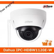 Dahua 1.3MP HD Wi Fi IR Mini Dome Camera IPC-HDBW1120E-W Wireless Network Camera Max. IR LEDs Length 30m Support SD card