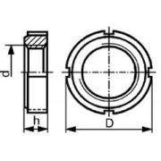 matice KM 15 M75x2 BEZ PÚ se 4 zářezy DIN 981