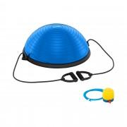 Palla bosu con elastici - 220 kg - blu