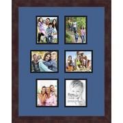 Arte a Marcos doble-multimat-476-836/89 frbw26061 Alfombrilla de Fotos con Collage Enmarcado Alfombra Doble con 6-4 x 5 Fotos y café exprés Marco
