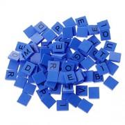 Shaoge 100Pcs Wooden Colourful Scrabble Tiles Mix Letters Varnished Alphabet Scrabbles