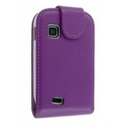 Synthetic Leather Flip Case for Samsung Galaxy Fit S5670 - Samsung Leather Flip Case (Purple)