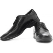 Clarks Gadwell Over Genuine Leather Lace Up Shoes For Men(Black)
