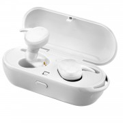 TWS Wireless Bluetooth 4.2 Headset with Portable Charging Case - White