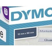 Dymo S0722460 Etikettrulle 50 x 12 mm Papper Vit 220 st Permanent Etiketter för hängeregister