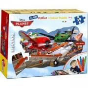 Двулицев пъзел - Самолетите с включени флумастри, 42874 LISCIANI, 8008324042784