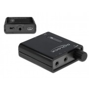 DeLock Portable Stereo Headphone Amplifier with dual output and bass boost 64056