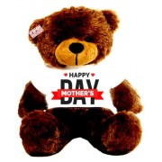 2 feet brown teddy bear wearing Happy Mothers Day T-shirt