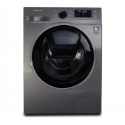 Masina de spalat rufe Samsung Eco Bubble WW90K5410UX, 9 kg, 1400 RPM, Clasa A+++, Display, Inverter, Argintiu