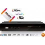telesystem Ts8001 Decoder Digitale Terrestre Dvb T2 Hevc Smart Box Web On Demand Pvr Lan Hdmi Usb - 58010088 Ts 8001