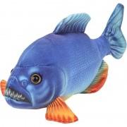 Nature Plush Planet Blauwe piranha vissen knuffels 18 cm knuffeldieren