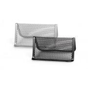 SUPORT CARTI DE VIZITA METALIC FORPUS negru 1 compartiment Plasa metalica Suport carti vizita