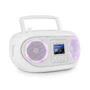 Auna Roadie Smart Boombox radio por internet DAB/DAB+ UKW reproductor de CD LED Wifi Bluetooth